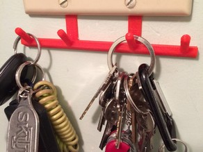 Dual Light Switch Key Hanger