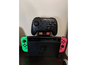 Nintendo Switch Pro Controller Dock Stand With Game Storage Slots