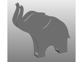 Elephant napkin holder