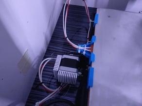 CR-10 Keenovo Bed Clip and Wire Strain Relief