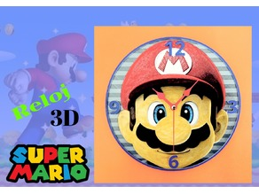 Reloj Mario 3D