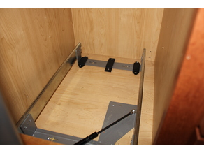 Bracket for pullout garbage and recycling drawer