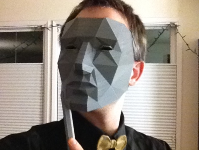 Completely new Low Polygon Mask - Replicator Printable by Austin - Thingiverse HY54