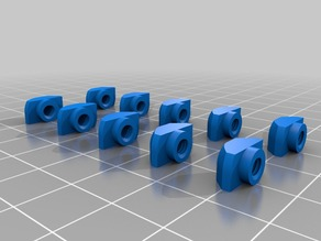 Drop-in M4 and M5 T-slot Nuts for 80/20 Aluminum Extrusion