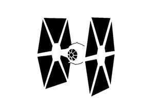 Tie Fighter stencil