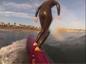 GoPro pole surfboard mount
