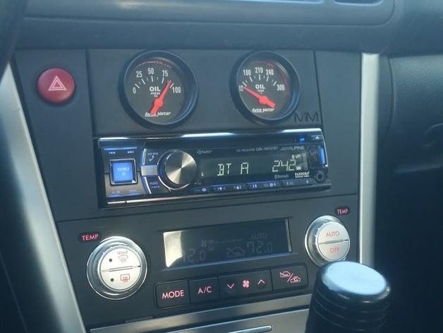 Single DIN radio slot gauge mount (2006 subaru legacy GT) by