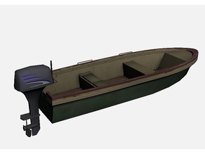 Simple boat and outboard