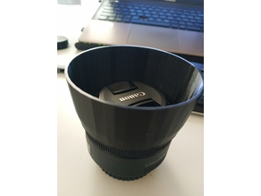 Canon 50mm f1.8 STM lens hood - no support