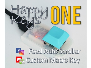 [HappyKeys] Instagram / Facebook Auto Scroller, Arduino Attiny85 Programmable Macro Key Instruction