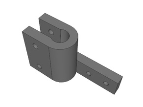 easyDelta rigid endstop holder (probably fit any 8mm rod & 20mm microswitch)