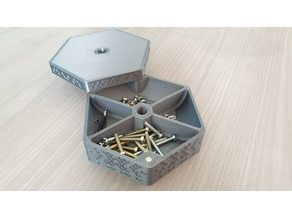 Smart magnetic screw box