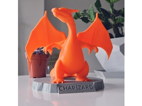 Charizard Statue with Stand