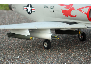 1/9 scale Mk82 Snakeye bomb for Freewing A4 Skyhawk