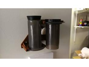 Aeropress Wall Mount (With Filter Pocket)