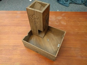 Magnetic Dice Box, Tray, and Tower