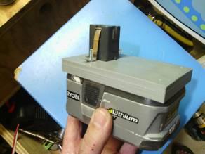 Ryobi 18v battery adapter plate