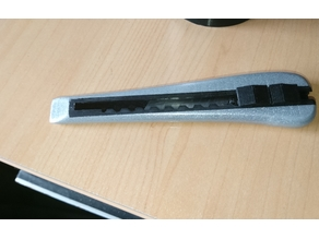 Fully printable slim 9mm blade cutter