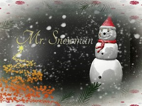 Mr. Snowman Christmas Decoration