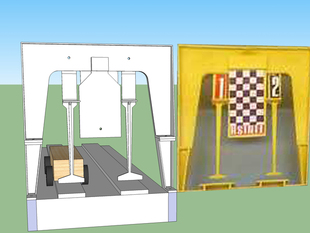 Finish Line/Gate for Pinewood Derby