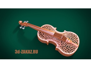 Violin design Voronoi remix