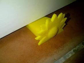 Sunflower door stop wedge
