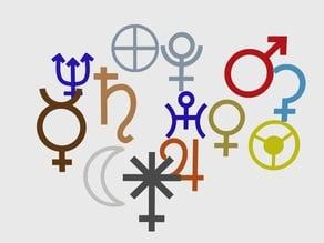 Symbols for planets