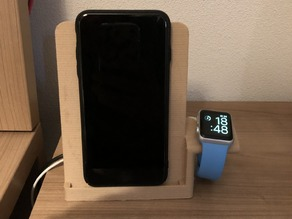 Wireless charging stand for iPhone and Apple Watch