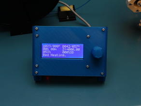 Panel with display(20x4) and rotary encoder