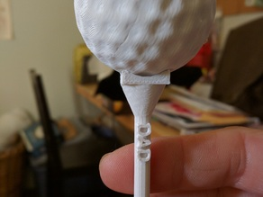Golf Tee with Text and Nub