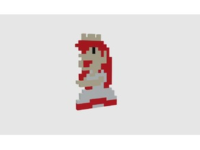 Super Mario Bros - Princess Peach multicolor sprite