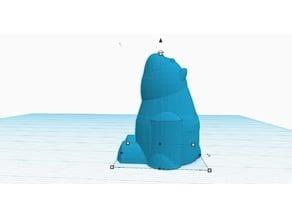 bear for solid mold (gummy bear)