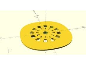 Fiat Shower Drain Plate 4.5 x 4.5 inch