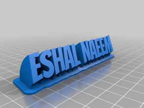 My Customized Sweeping 2-line name plate eshal