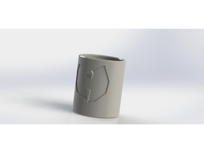 (REQ) Shot glass with Wu - tang logo