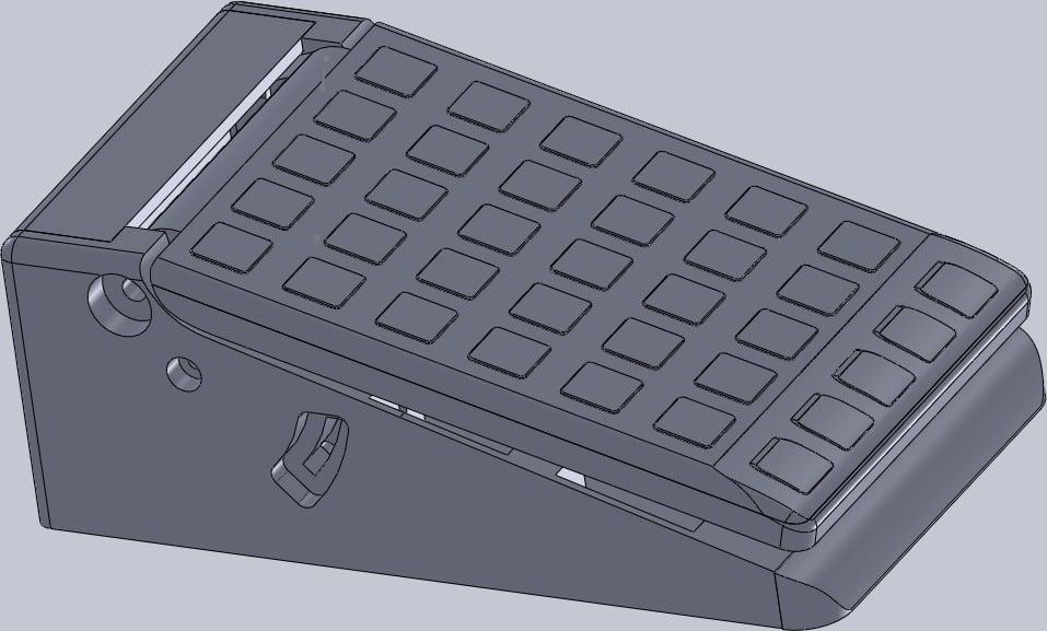 Pedale 3d modifiche al progetto Thingiverse