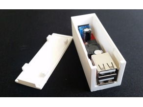 Case for DC 6V-40V To 5V 3A Double USB Charge DC-DC Step-down Converter Module LM2596
