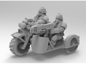 Death corps bike with sidecar