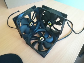 120mm cube fans joint 90 degrees