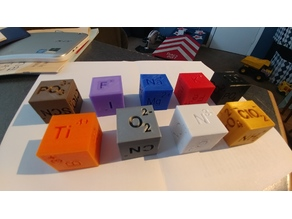 Chemistry Ion Dice (Chemical, Ion Cubes)