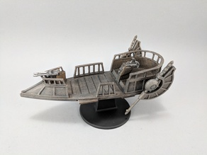 Sci-fi Pirate Skiff
