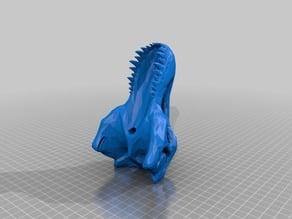 Low Poly T-Rex Skull