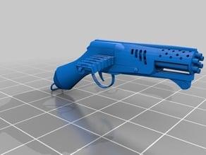 Gatling gun pistol