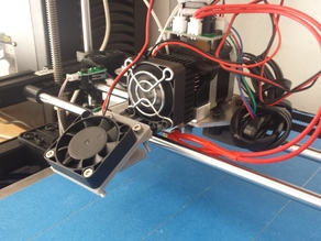 Rigidbot Easy Print Cooling Fan Mount for Single Extruder