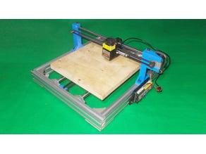 040-Homemade Laser Plotter Draw Mill 3D Printer Drawing Arduino Robotic DIY XY Axis Slide Linear Frame
