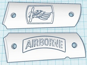 173 Airborne 1911 Grip Panels