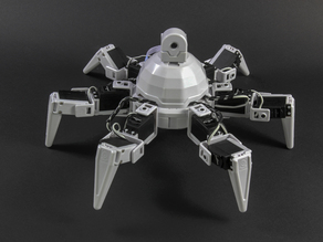 Six Hexapod built with EZ-Bits that clip together