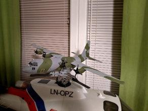 Micro C-130 Hercules RC model