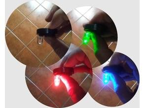 "RGB LED ""Peace Button"" Morse Code / Pocket Light -w- 3 Button Case"