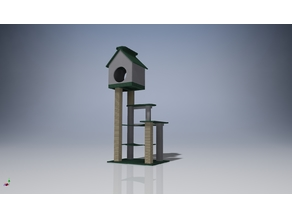 3D game complex for a cat on the balcony model